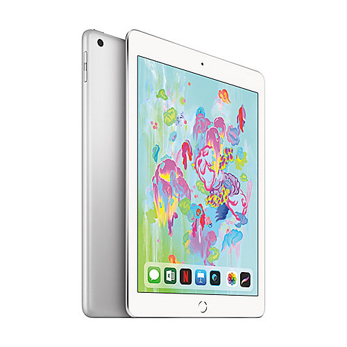 Apple iPad 9,7'' 2018 Wi Fi 128 GB Silber (MR7K2FD A)