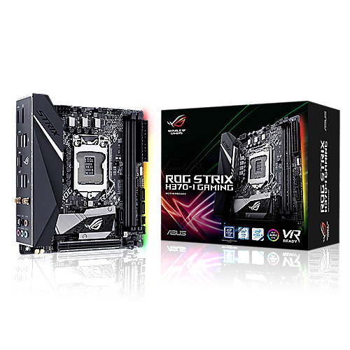 ASUS ROG STRIX H370-I GAMING ITX Mainboard 1151 WLAN/BT/HDMI/DP/M.2/USB3.1