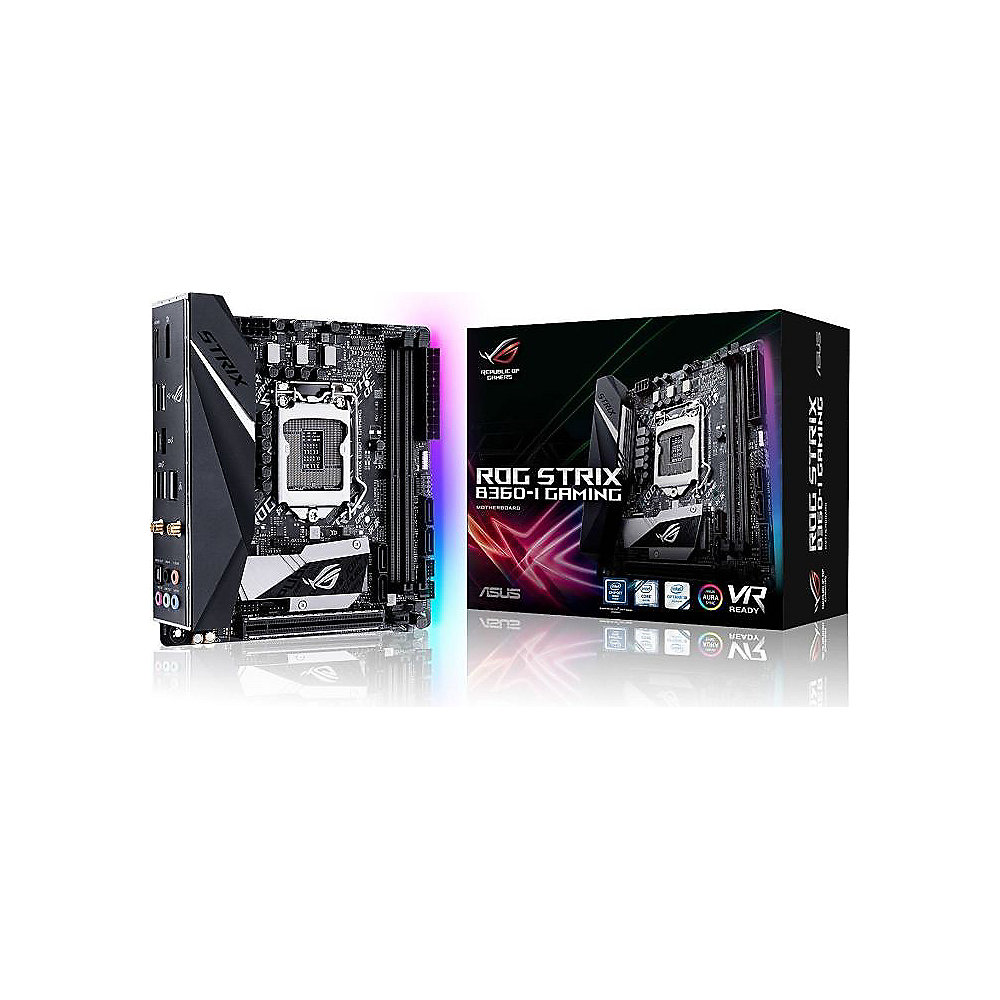 ASUS ROG STRIX B360-I GAMING ITX Mainboard 1151 WLAN/BT/DP/HDMI/M.2/USB3.1
