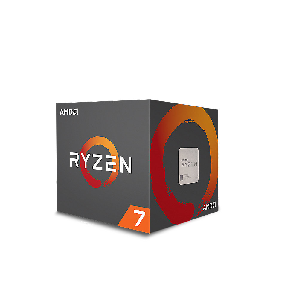*AMD Ryzen R7 2700 (8x 4,1GHz) 20MB Sockel AM4 CPU Boxed (Wraith Spire LED)