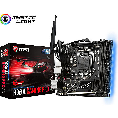 MSI B360I Gaming Pro AC ITX Mainboard Sockel 1151 (Coffee Lake) | 4719072564223