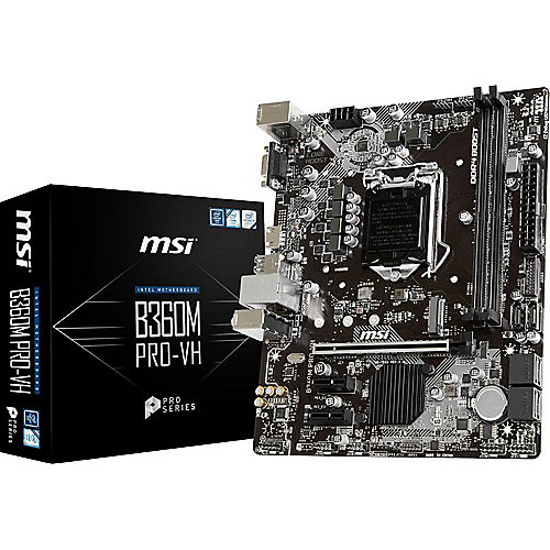 MSI B360M PRO-VH mATX Mainboard Sockel 1151 (Coffee Lake)