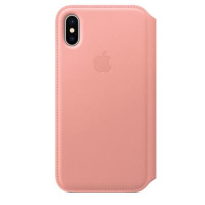 Apple  Original iPhone X Leder Folio Case-Zartrosa | 0190198707017