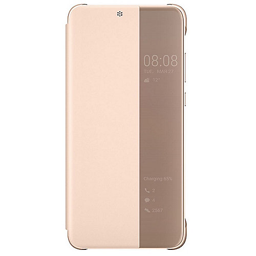 Huawei P20 Smart View Flip Cover pink