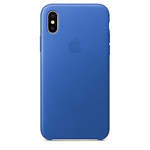 Apple Original iPhone X Leder Case-Electric Blau