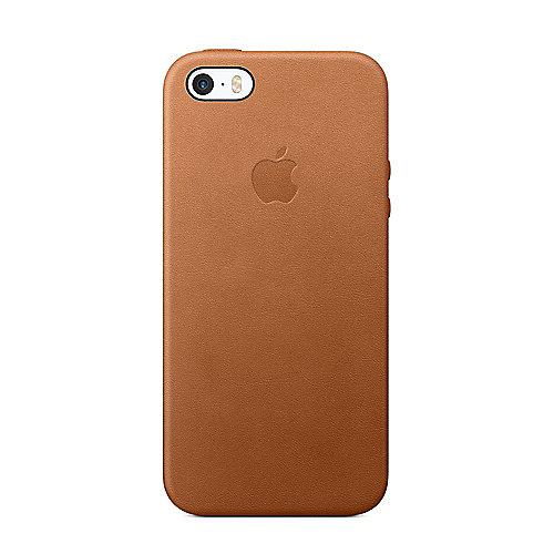 Apple Original iPhone SE Leder Case Sattelbraun