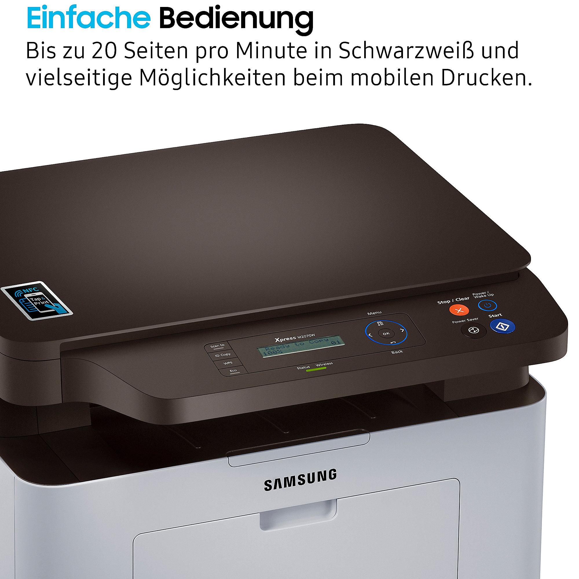 samsung xpress sl m2070w s w laser multifunktionsdrucker kopierer scanner wlan cyberport. Black Bedroom Furniture Sets. Home Design Ideas