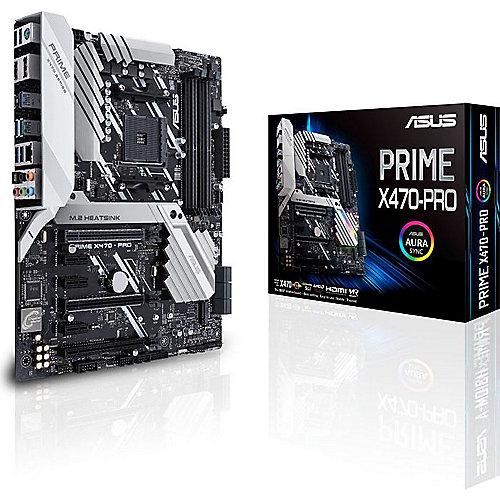 ASUS Prime X470-Pro ATX Mainboard Sockel AM4 USB3.1(Gen2 Typ C)/M.2