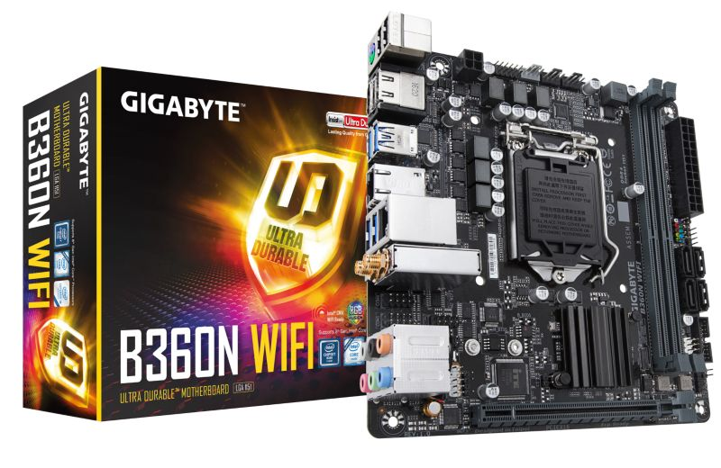 Gigabyte B360N WIFI Mini-ITX Mainboard 1151v2 (Coffee Lake)