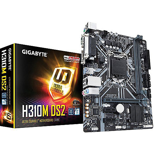 Gigabyte H310M DS2 mATX Mainboard 1151v2 (Coffee Lake), VGA, Seriell, Parallel | 4719331802912