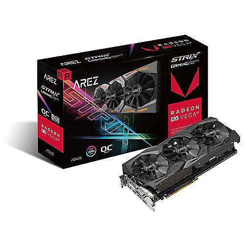 Asus Radeon AREZ Strix RX Vega 64 OC Gaming Grafikkarte 8GB HBM2 HDMI/DP/DVI | 4718017023726