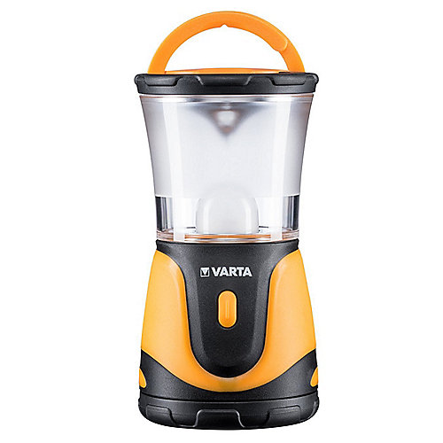VARTA 1 Watt LED Outdoor Sports Lantern 3AA schwarz/orange