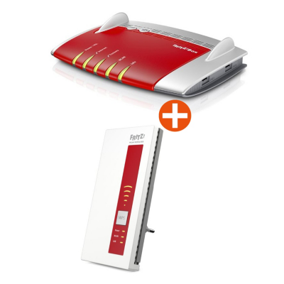 AVM  FRITZ!Box 7490 WLAN-ac VoIP Gigabit Router DECT Basis + WLAN Repeater 1750E | 4023125025846