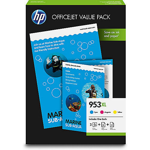 HP 953XL Original Druckerpatrone Multipack (C,M,Y) 1CC21AE