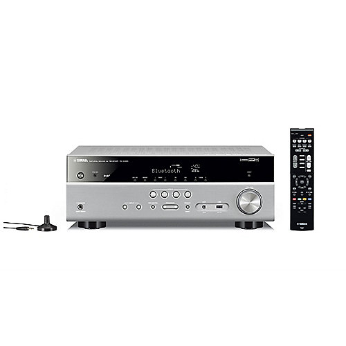 Yamaha RX-D485 DAB 5.1 AV-Receiver 4K, Bluetooth, DLNA, AirPlay, WiFi silber