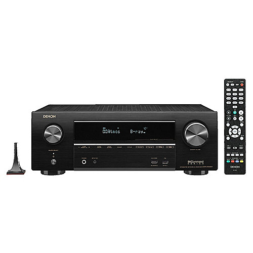denon avr x1500h 7 2 av receiver schwarz bt wlan heos. Black Bedroom Furniture Sets. Home Design Ideas