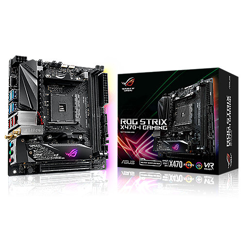 ASUS ROG STRIX X470-I Gaming ITX Mainboard Sockel AM4 USB3.1(Gen2 Typ C)/M.2