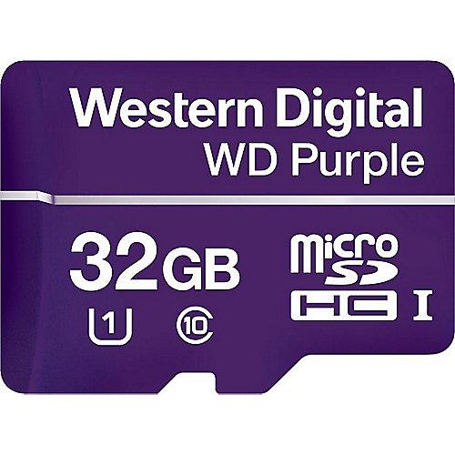 WD Purple 32 GB microSDHC Speicherkarte (50 MB/s, Class 10, U1) | 0718037863542