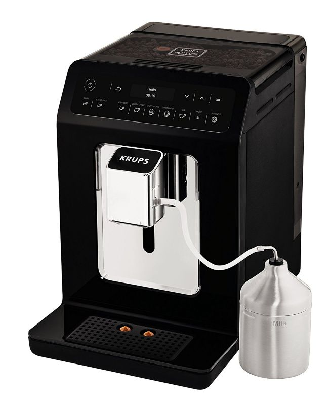 KRUPS EA8918 Evidence One-Touch-Cappuccino Kaffeevollautomat Schwarz