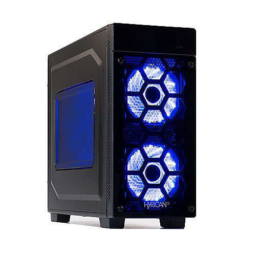 Hyrican Striker PC blue 5890 i7-8700K 16GB 1TB 240GB SSD GTX 1080 W10