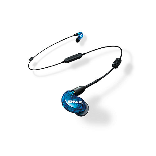 Shure SE215SPE-B-BT1-EFS Wireless Sound Isolating Ohrhörer blau