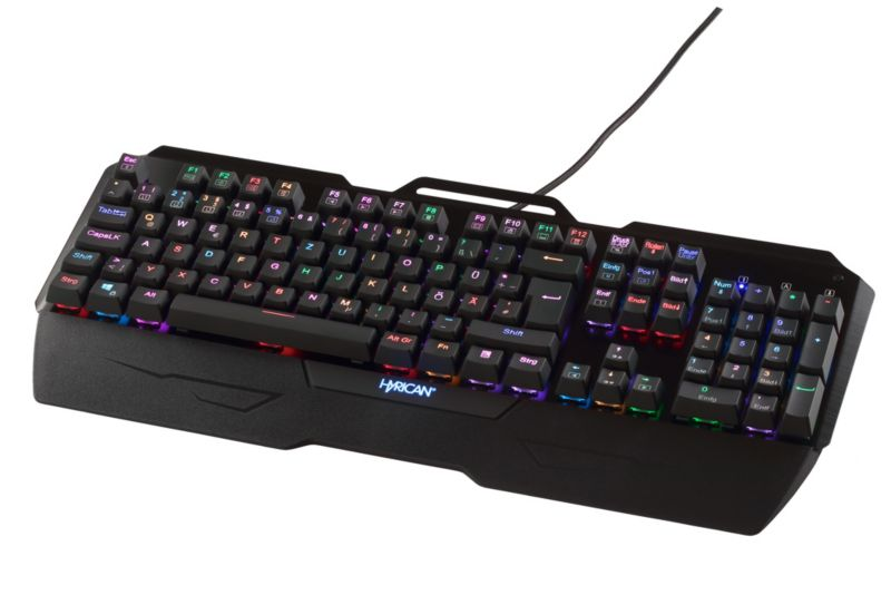 Hyrican Striker Tastatur ST-MK29 deutsch, Gaming RGB, USB, mechanisch
