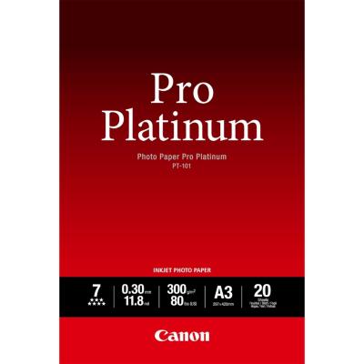 Canon  2768B017 Fotopapier Pro Premium PT-101, A3, 20 Blatt, 300g/m² | 4960999575292