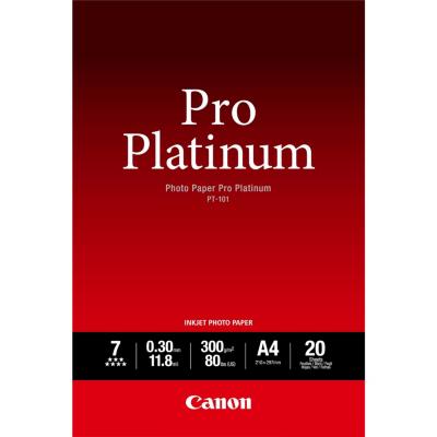 Canon  2768B016 Fotopapier Pro Platinum PT-101 A4, 20 Blatt, 300g/m² | 4960999575285