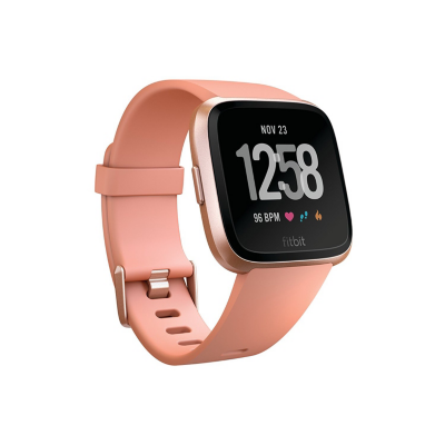 Fitbit  Versa Gesundheits- und Fitness-Smartwatch peach / rose gold | 0816137029117