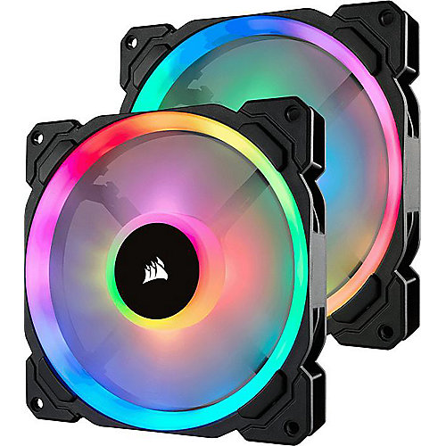 Corsair LL Series LL140 LED RGB Lüfter 140 mm 2er SET mit Lightning Node PRO