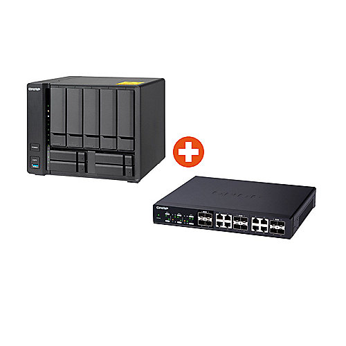 QNAP TS-932X-8G NAS System 9-Bay + QNAP QSW-1208-8C 10G Switch