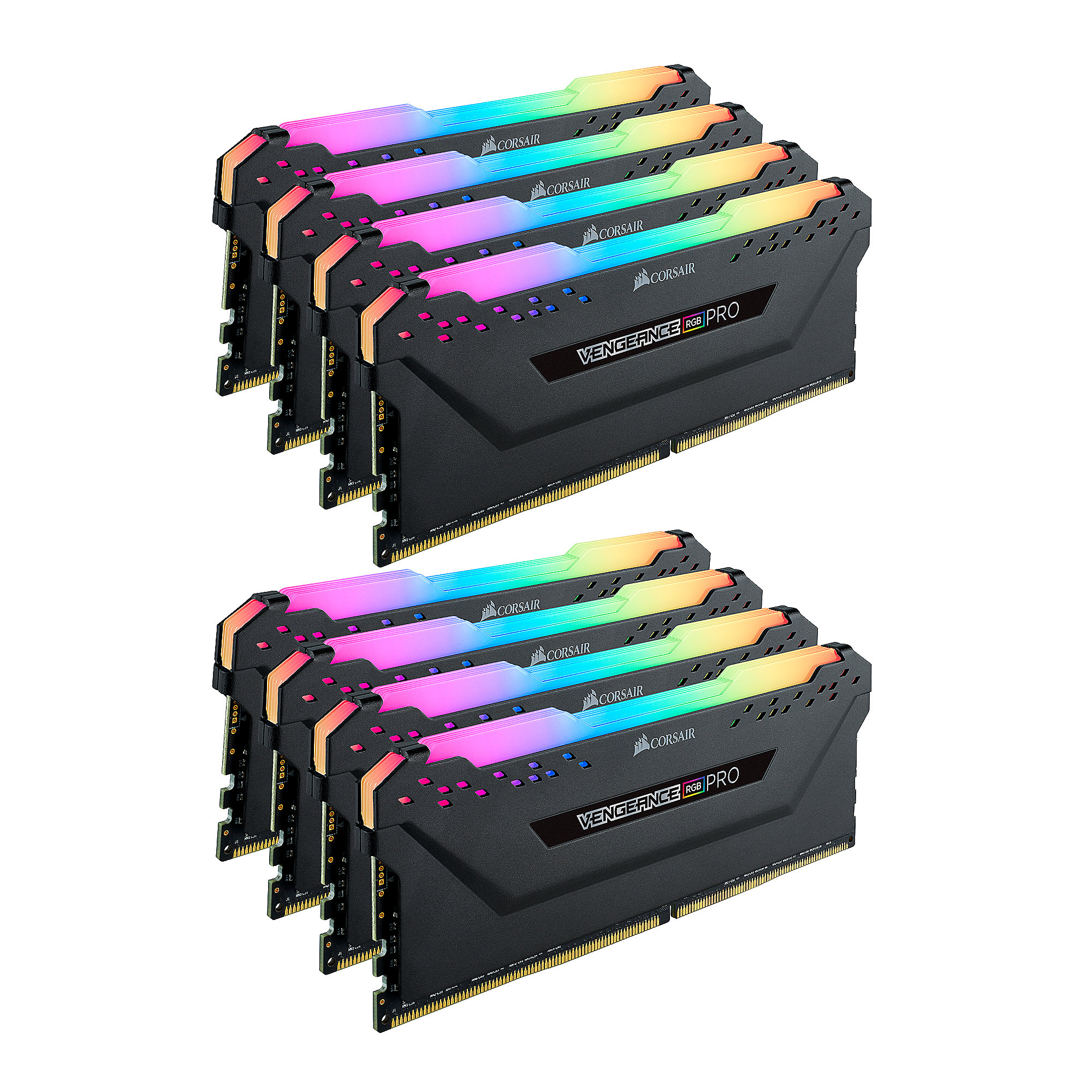 64GB (8x8GB) Corsair Vengeance RGB PRO DDR4-2666 RAM CL16 (16-18-18-35) Kit