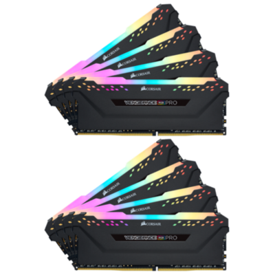 Corsair 64GB (8x8GB)  Vengeance RGB PRO DDR4-3200 RAM CL16 (16-18-18-36) Kit | 0843591077248