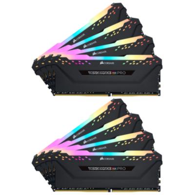 Corsair 64GB (8x8GB)  Vengeance RGB PRO DDR4-3600 RAM CL18 (18-19-19-39) Kit | 0843591080637