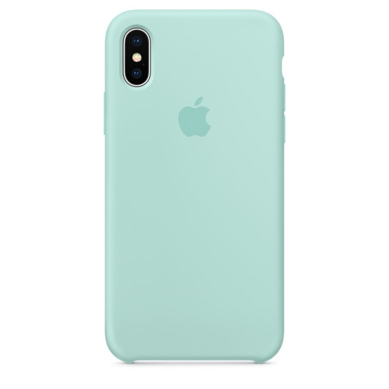 Apple Original iPhone X Silikon Case-Marinegrün