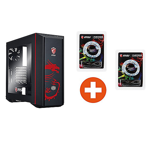 Cooler Master MasterBox 5 MSI Edition Midi Tower ATX Gehäuse + RGB LED Strips