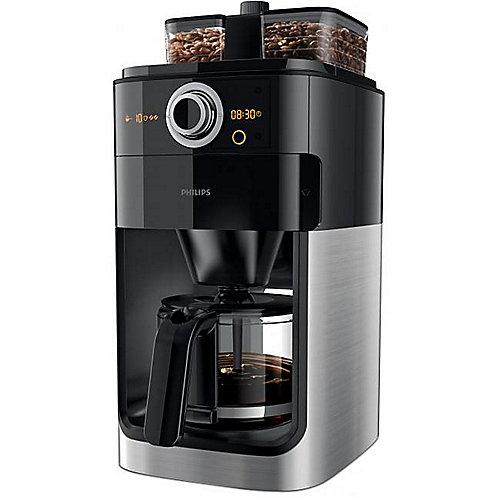 Philips HD7766/00 Grind and Brew Kaffeemaschine mit Mahlwerk Schwarz Metall | 8710103744740