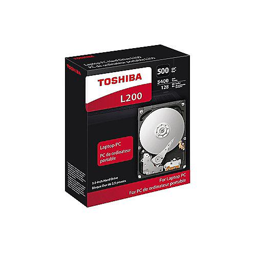 Toshiba L200 Slim HDWK105EZSTA – 500GB 5400rpm 8MB SATA600 2.5zoll | 4051528235005