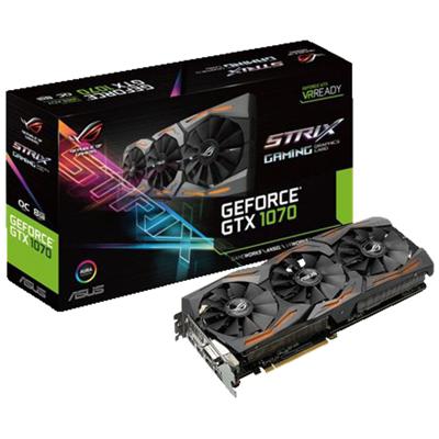 Asus  GeForce GTX 1070 Strix ROG 8GB GDDR5 Grafikkarte 2xDP/2xHDMI/DVI | 4712900455052