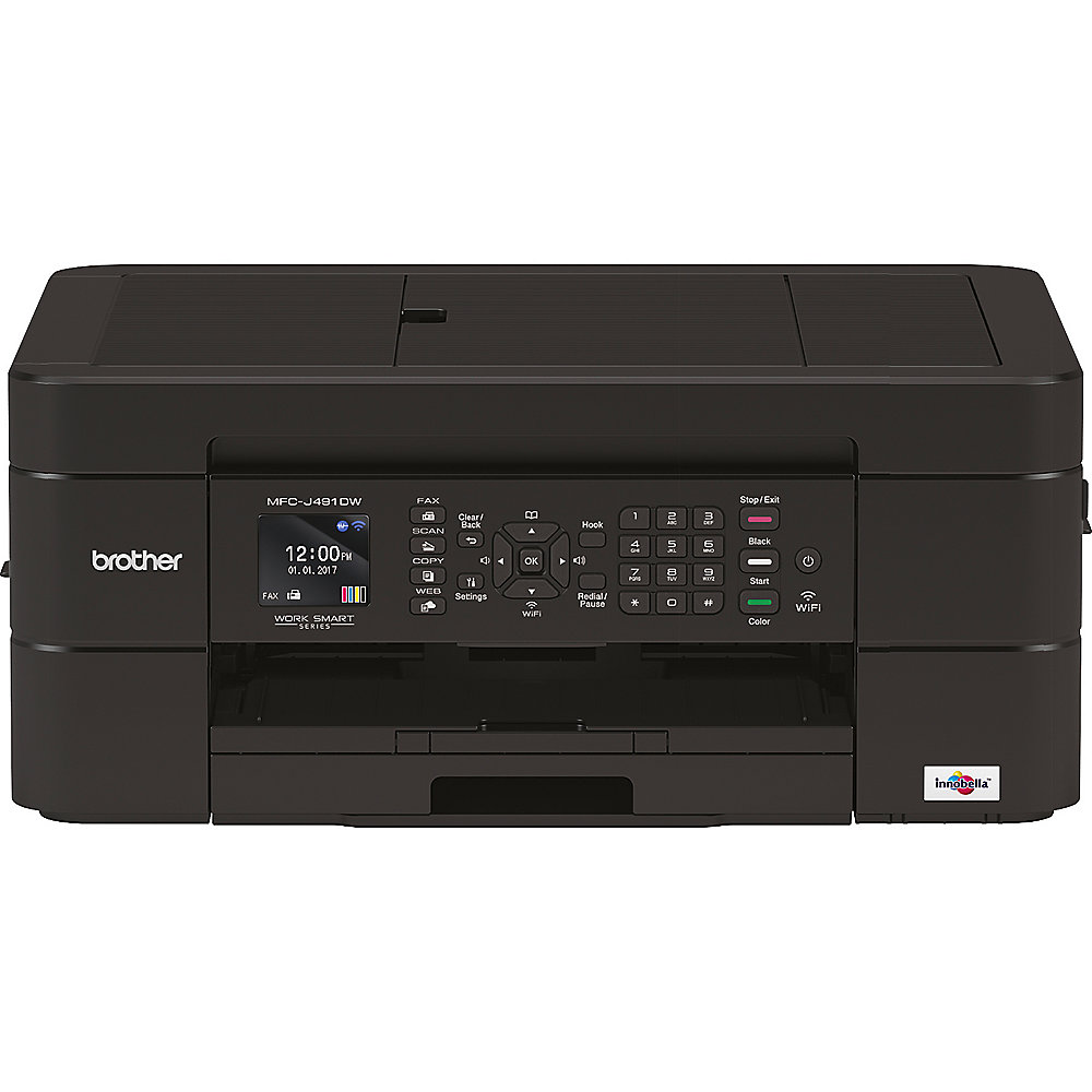 Brother MFC-J491DW Tintenstrahl-Multifunktionsdrucker Scanner Kopierer Fax WLAN