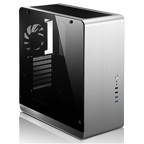 Cooltek Jonsbo UMX4 Silver Window Midi Tower mATX Gaming Gehäuse Seitenfenster