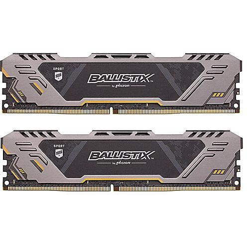 16GB (2x8GB) Ballistix Sport AT DDR4-2666 CL16 (16-18-18) RAM Speicher Kit | 0649528786715