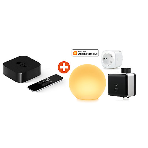HomeKit Komfortpaket mit Eve Energy EU & Eve Aqua & Eve Flare & Apple TV