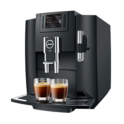 Jura  E80 Kaffeevollautomat Piano Black | 7610917152957