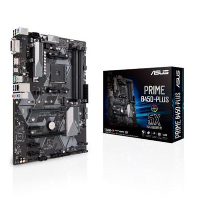 Asus  Prime B450-Plus ATX Mainboard Sockel AM4 M.2/USB3.1/HDMI/DVI | 4718017075671