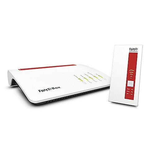 AVM FRITZ! Mesh Set 7590 WLAN-ac Router + 1750E Reichweitenverlängerung | 4023125028601