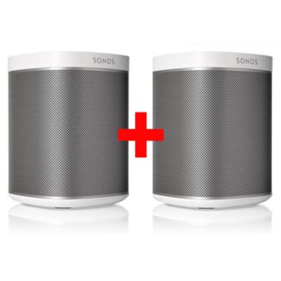 Sonos  PLAY:1 weiß Paar Kompakter Multiroom Smart Speaker für Music Streaming | 8717755771957