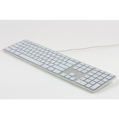 Matias  Aluminum Erweiterte USB Tastatur RGB dt. für Mac OS silber | 0833742005602