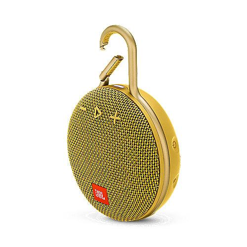 JBL Clip 3 Gelb Tragbarer Bluetooth-Lautsprecher wasserdicht nach IPX7 | 6925281933097