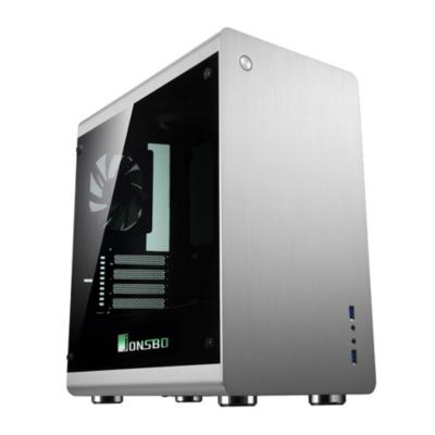 Cooltek  Jonsbo RM3 RGB Mini Tower mATX Gehäuse mit Seitenfenster, USB3.0, Silber | 4250140374950